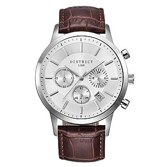 bermont Executive Edition Reloj de cuarzo Lujo Sub Dial reloj analógico y correa de piel –