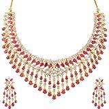 Swasti Jewels American Diamond Cz Zircon Necklace Earrings Set For Women
