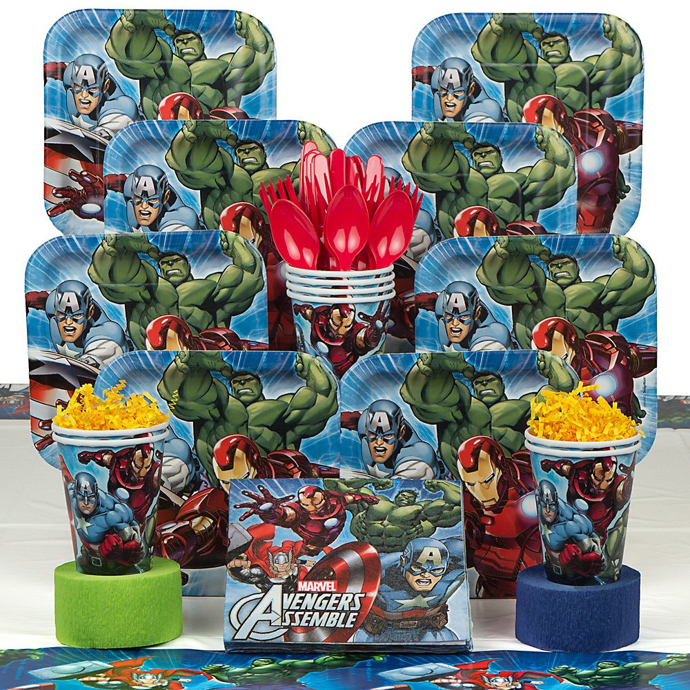 The Avengers Party Pack Including Plates, Cups, Napkins and Tablecover - 16 Guests