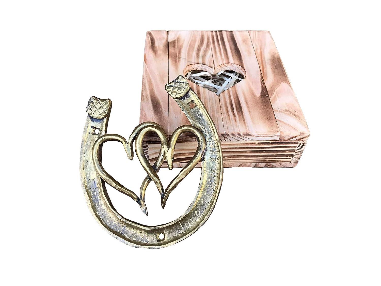 Amazon Com Engraved Bronze Gift Bronze Gifts 8 Year Gifts 8th Anniversary Gift Bronze Horseshoe Horse Shoe Bronze Gift Idea Bronze Hearts Handmade