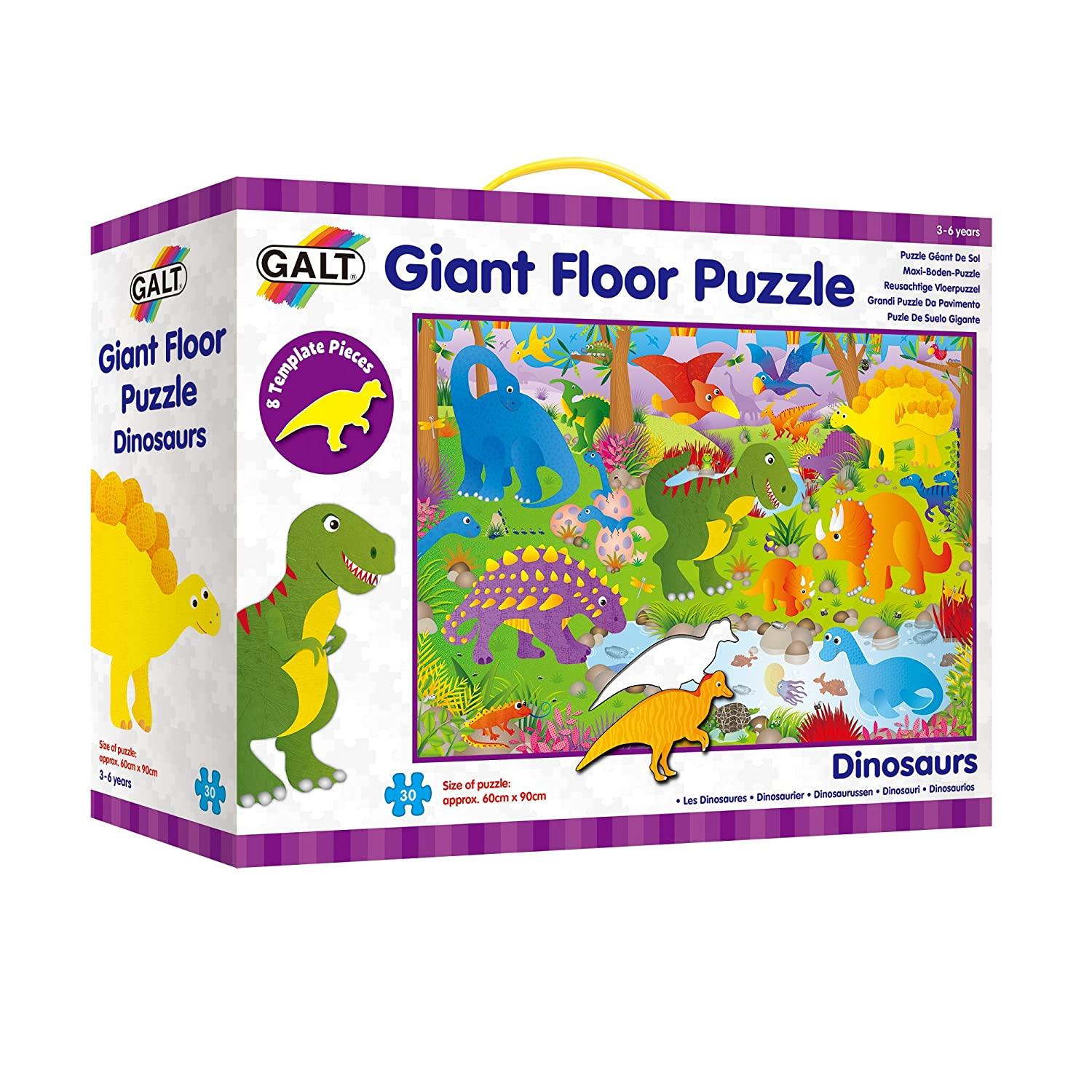 Galt Toys Giant Floor Puzzle, Dinosaurs A0866B 3to4 5to8 Children's Puzzles