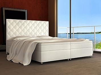 Wohnen-Luxus Cama con somier (180 x 200 H3 Panama Supreme - Cama 180 x 200 visco Topper Hotel Americana Cama Matrimonio Cama: Amazon.es: Hogar