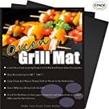 Professional Grill Mat of OscenLife - Set of 2 Non-stick BBQ Grilling Mats - Heavy Duty , Reusable and Easy to Clean of Grill Accessories (13 x 16inch)