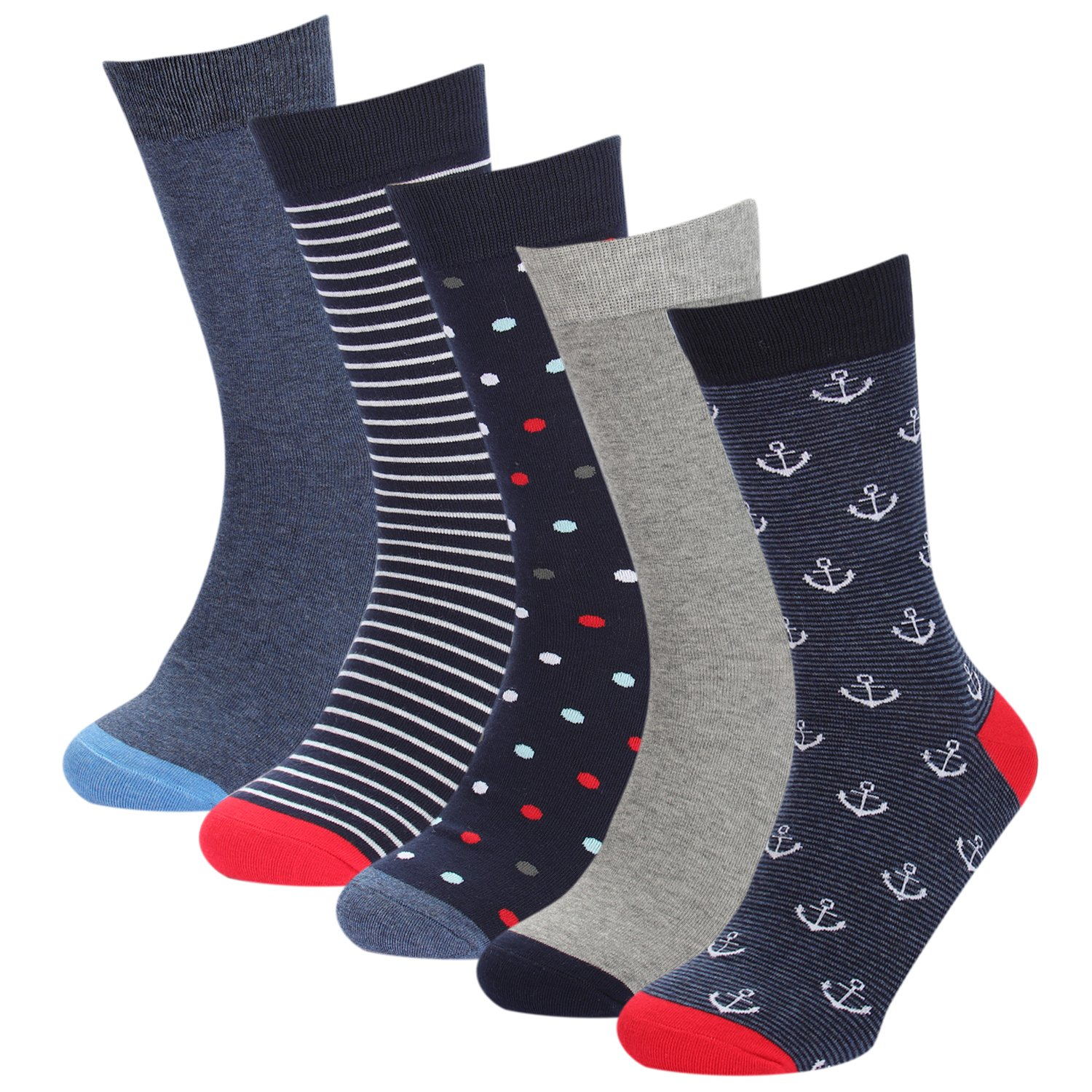 Men's Color Casual Dress Sock Novelty Funny Pattern Cotton Socks Hoyols