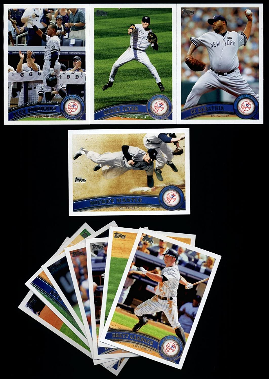 CC Sabathia Nova Derek Jeter 2011 Topps New York Yankees Complete Series 1 /& 2 Team Set 19 Cards with Mickey Mantle Posada Alex Rodriguez