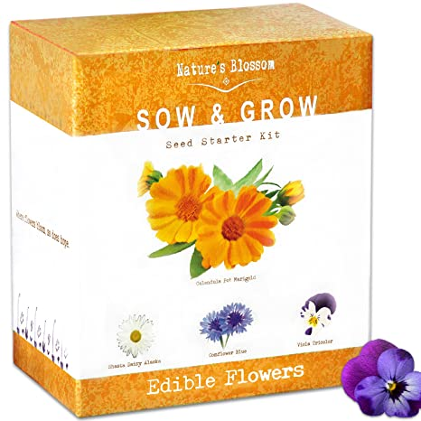 Amazon Edible Flower Seed Kit Grow 4 Culinary Flowers From