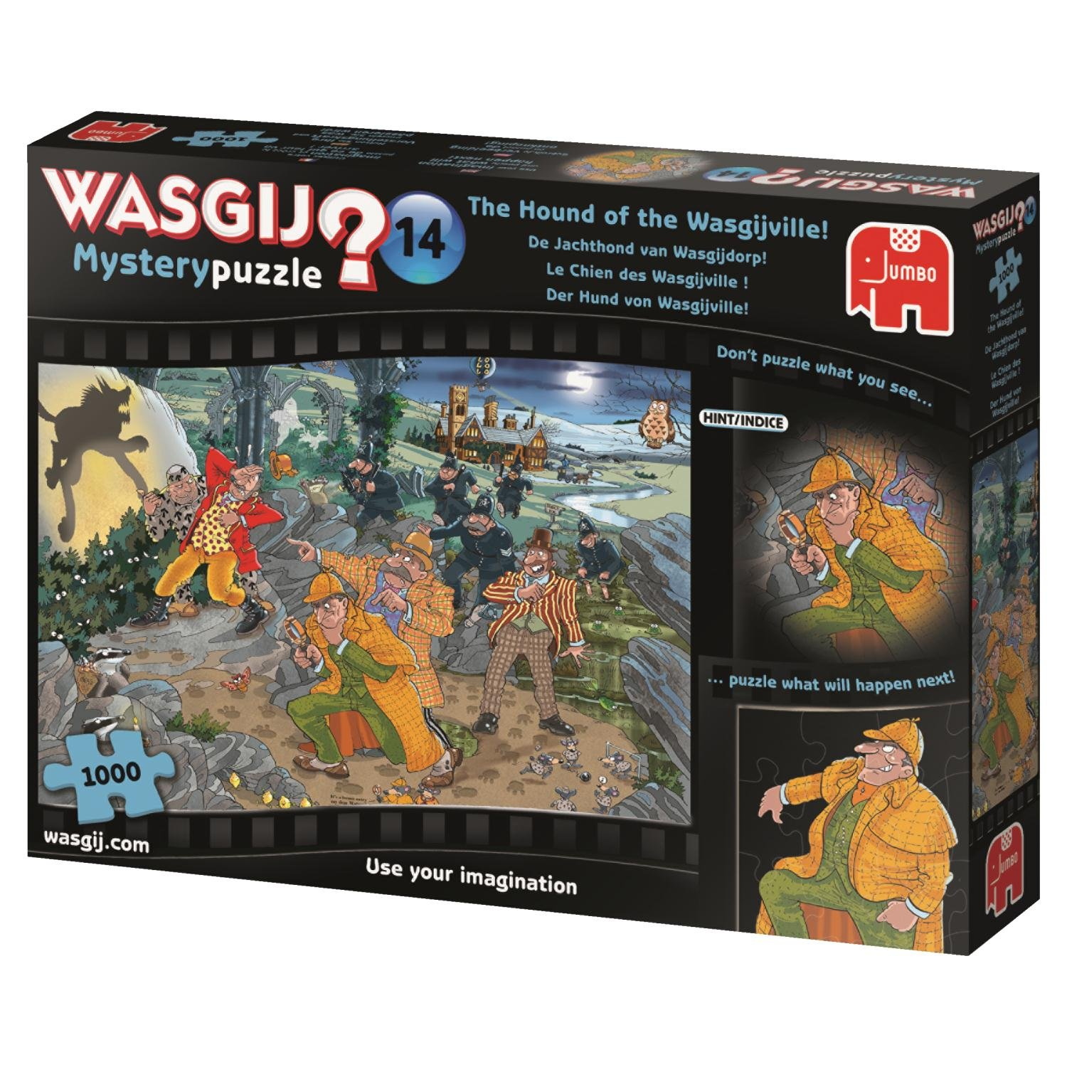 Populære Jumbo 19158 Wasgij Mystery 14-Hound of The Wasgijville 1000 Piece DW-16