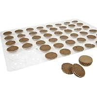 Hobbybäcker Macarons Schoko ► Zum Selbst Befüllen, Macaronböden, Keine Backmatte Nötig, Ø 3.5 cm, 48 Stück ► Für 24 Macarons