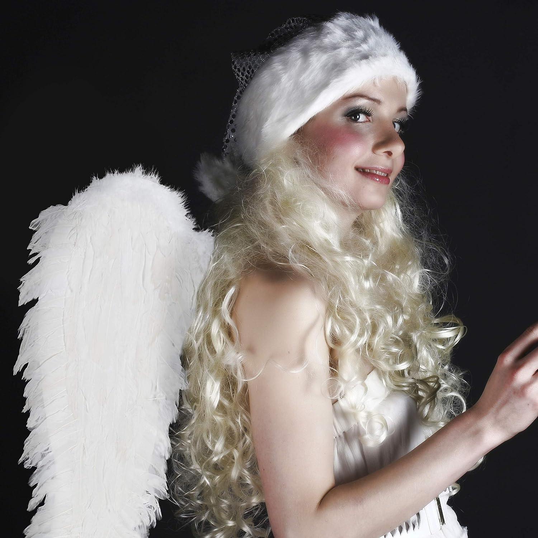 10027966/_46 Ali Piumate Nero d/'angelo 67x70 cm Relaxdays Donna Costume Angioletto Bambini /& Adulti con Piume Sintetiche