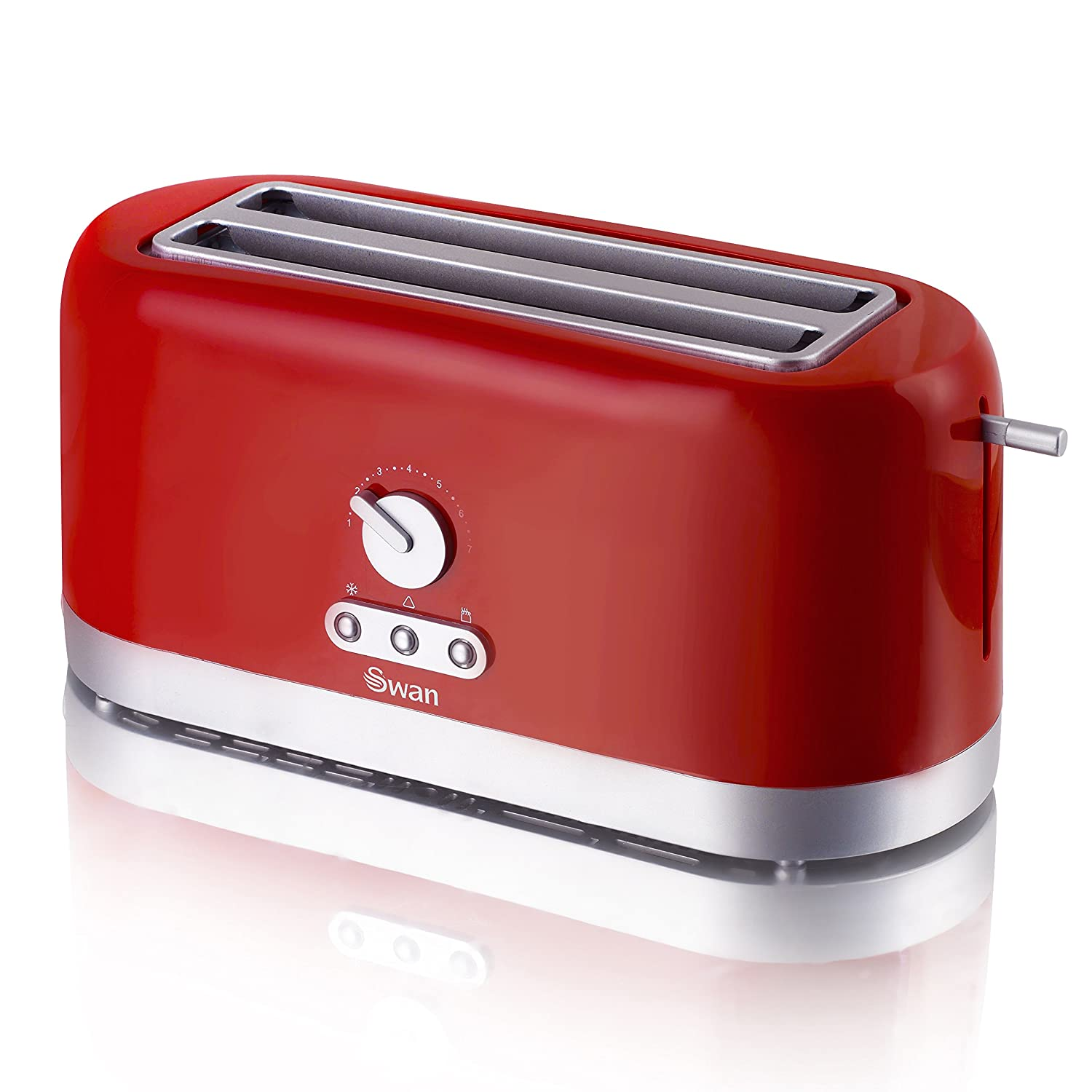 Swan 4 Slice Long Slot Toaster Red Amazon Kitchen & Home