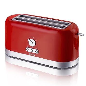 4 slice long slot toaster red roulettes pour portes de placard coulissantes