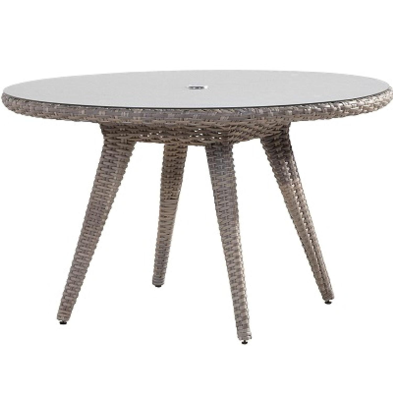 4Seasons Outdoor Mambo dining Tisch rund 130 cm mit Glasplatte ...