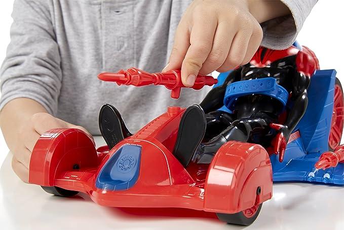 Marvel Spiderman - Figura titán con vehículo (Hasbro A8491EU4): Amazon.es: Juguetes y juegos