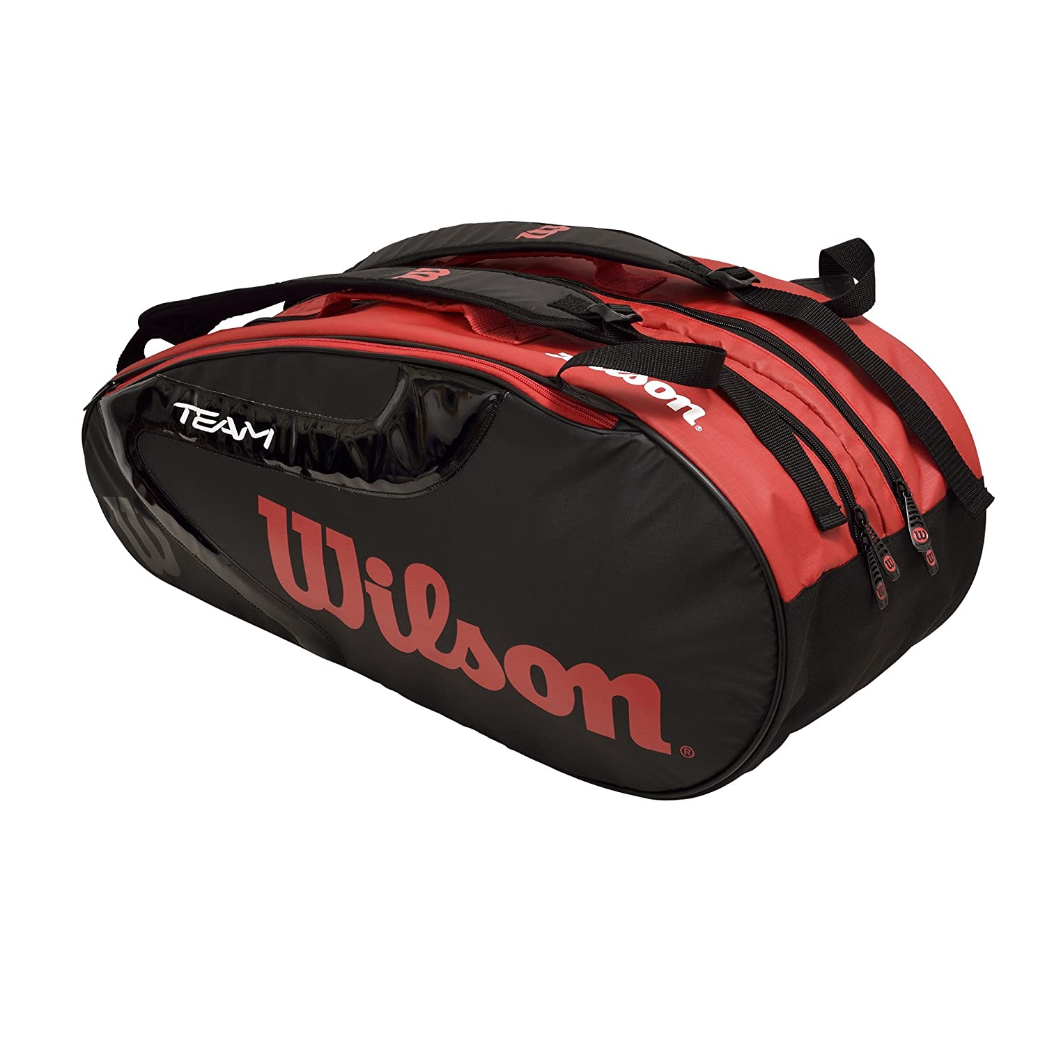 TEAM J 2.0 9PACK RACKET BAG ブラック/レッド