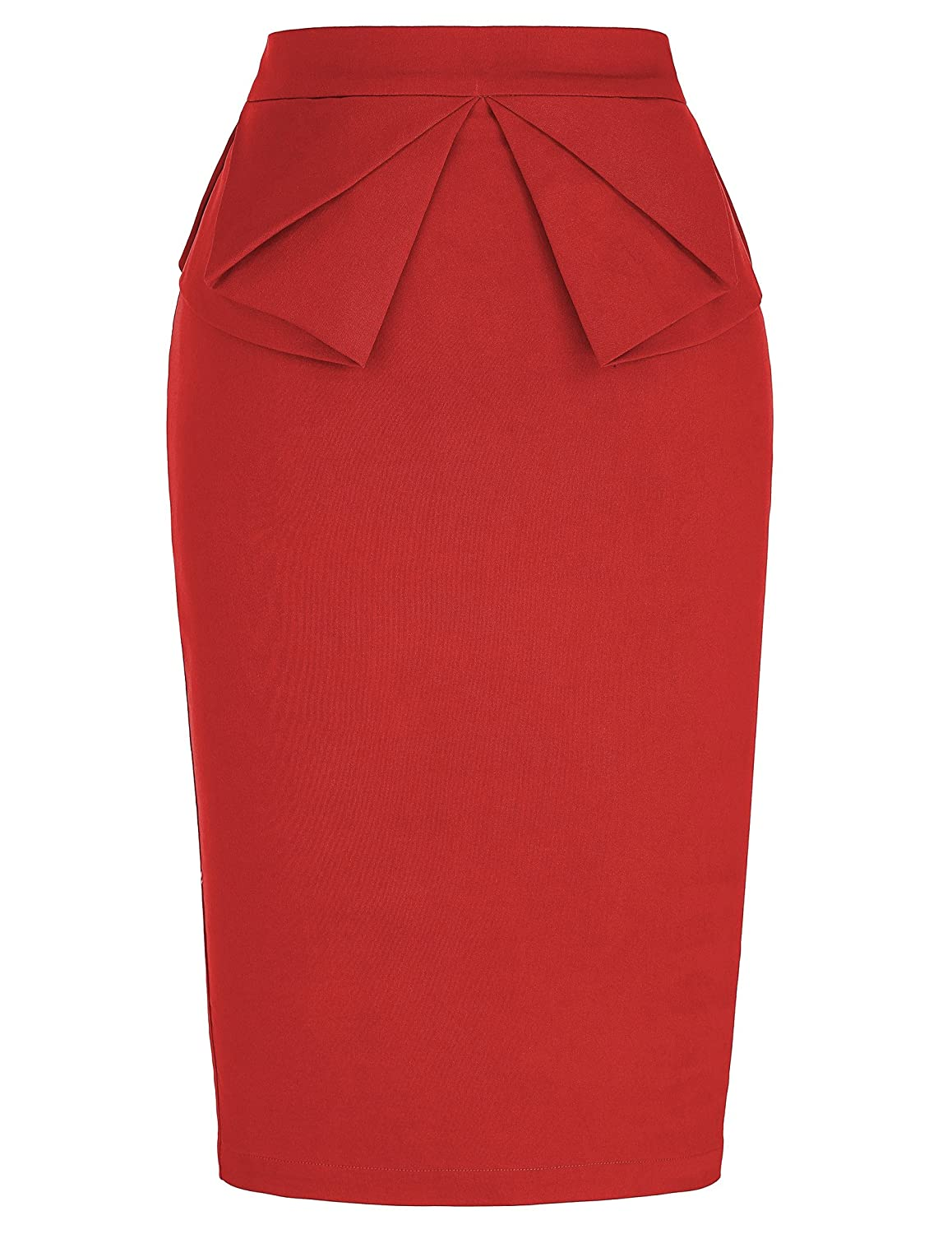Women's Slim Fit Midi Pencil Skirts for Office Wear AMC008928