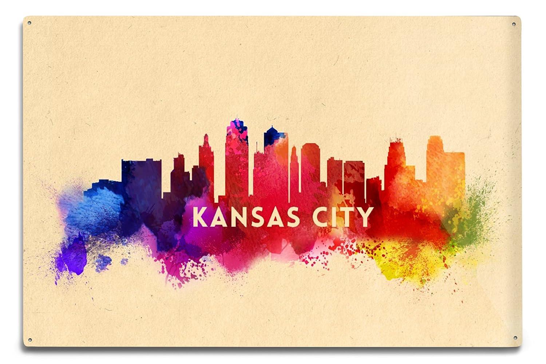 Amazon.com: Lantern Press Kansas City, Missouri - Skyline Abstract ...