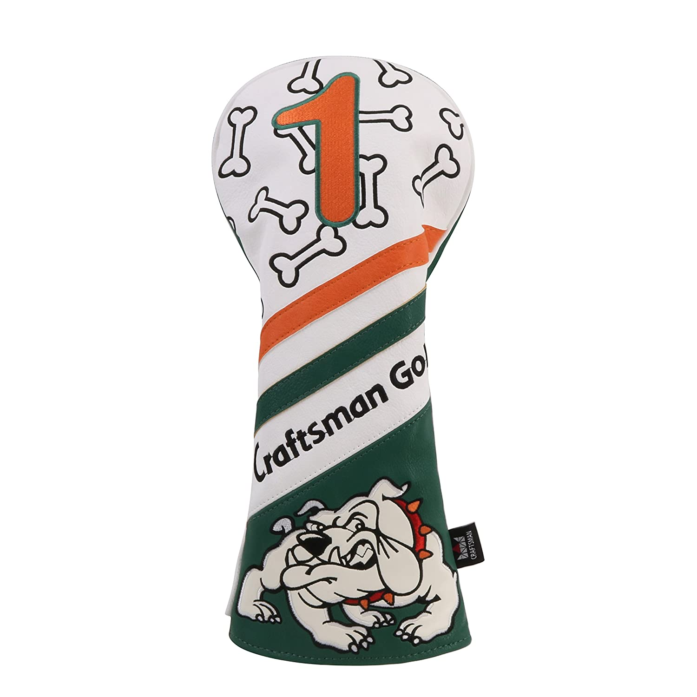 Craftsman Golfブルドッグストリップ# 1 F Hゴルフドライバーフェアウェイウッドハイブリッドヘッドカバー B07FW693V4 #1、f、f、h カバー