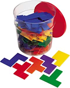 Learning Resources Rainbow Premier Pentominoes, Early Geometry Skills & Concepts, 72 Pieces, Ages 6+