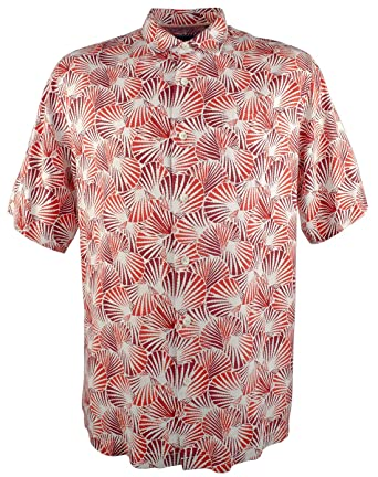 3a9cfd33 Tommy Bahama Men's Shell We Dance Silk Short Sleeve Shirt-C-S at Amazon Men's  Clothing store: