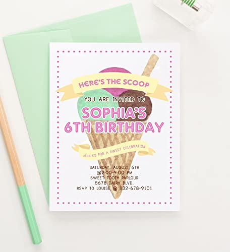 Amazon Ice Cream Birthday Party Invitations Ice Cream – Ice Cream Birthday Party Invitations