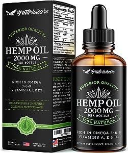 Hеmp Oil Extract – Improve Sleep – Vegan Hеmp Seed Oil – Natural Omega 3, 6, 9 – Made in USA – 1 fl oz