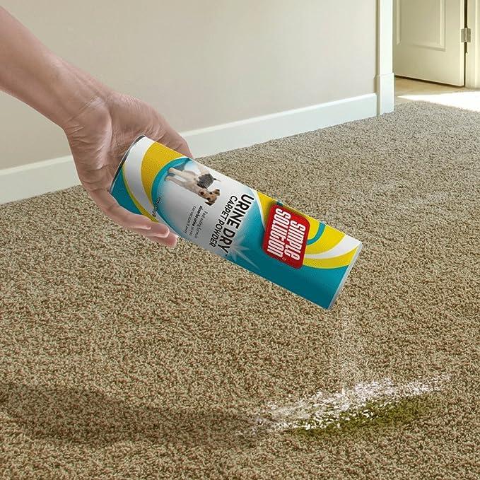 Simple Solution Urine Dry - Polvo para Limpiar orina de Mascotas en alfombras, 680 g: Amazon.es: Productos para mascotas