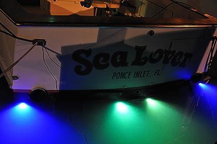 LED Puck Underwater Boat Light - Surface Mount Transom 6 watts (White) & Amazon.com : LED Puck Underwater Boat Light - Surface Mount Transom ...