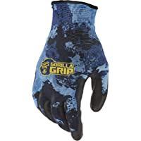 Gorilla Grip Gorilla Grip Fishing Gloves, Veil Aqueous Camo