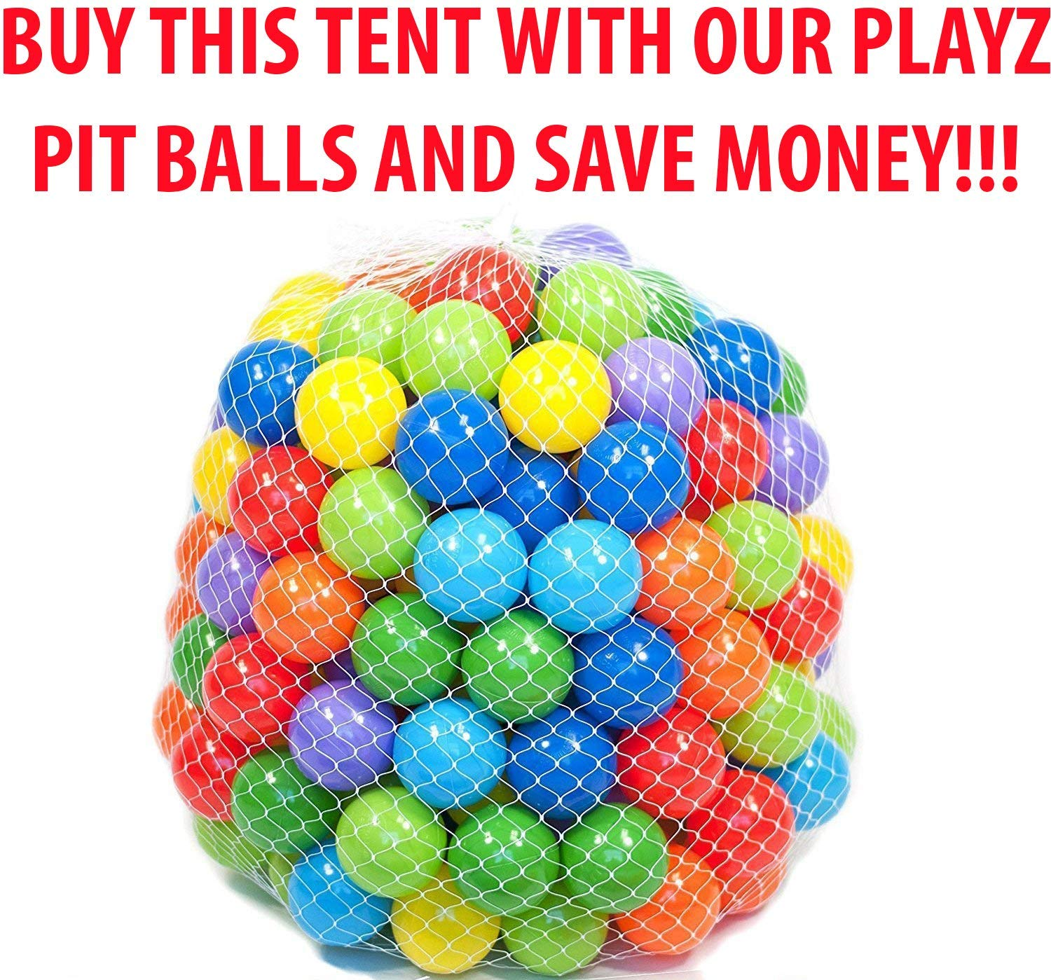 Playz Ball Pit, Play Tent and Tunnels for Kids, Gift for Toddler Boys & Girls, Best Birthday Gift for 1 2 3 4 5 Year old, Pop Up Baby Play Toy, Indoor & Outdoor Use as Portable Play Center Storage Bag by Playz
