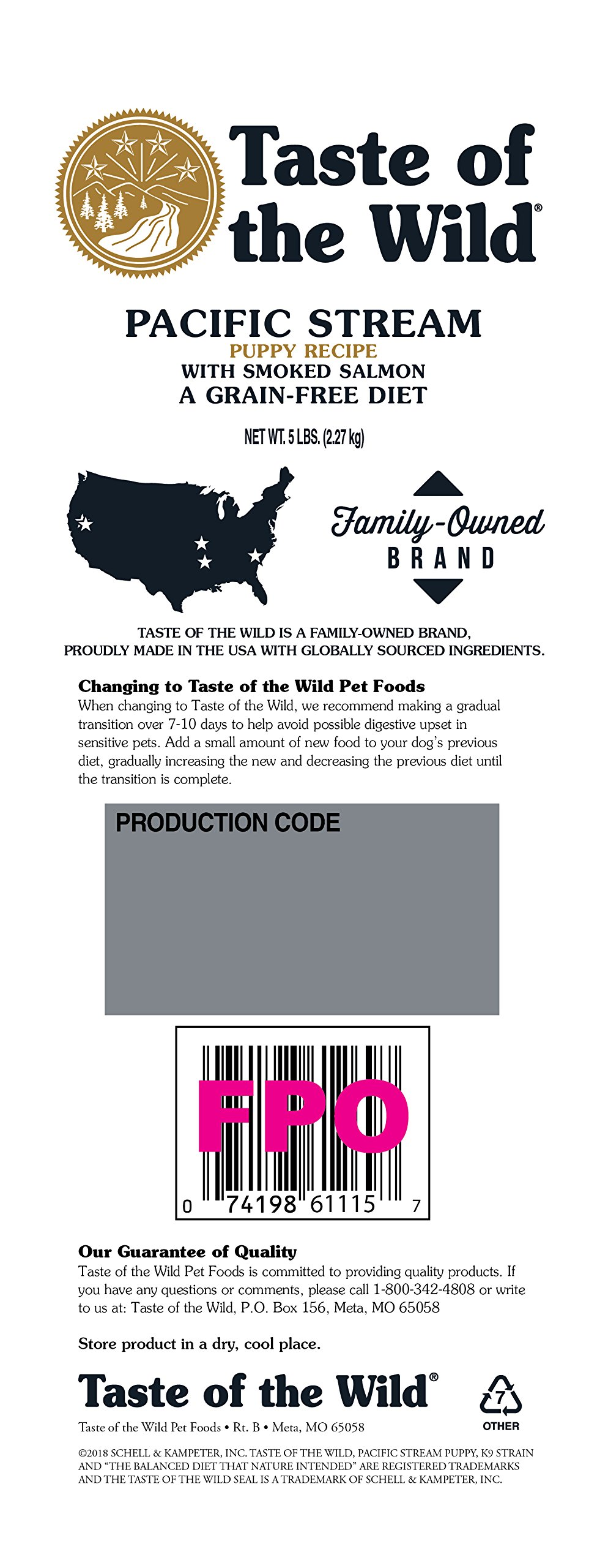 Details about Taste of the Wild Pacific Stream With Smoked Salmon Puppy  Food, 5 lbs