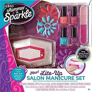 Shimmer N Sparkle Light up Salon Manicure set 17648