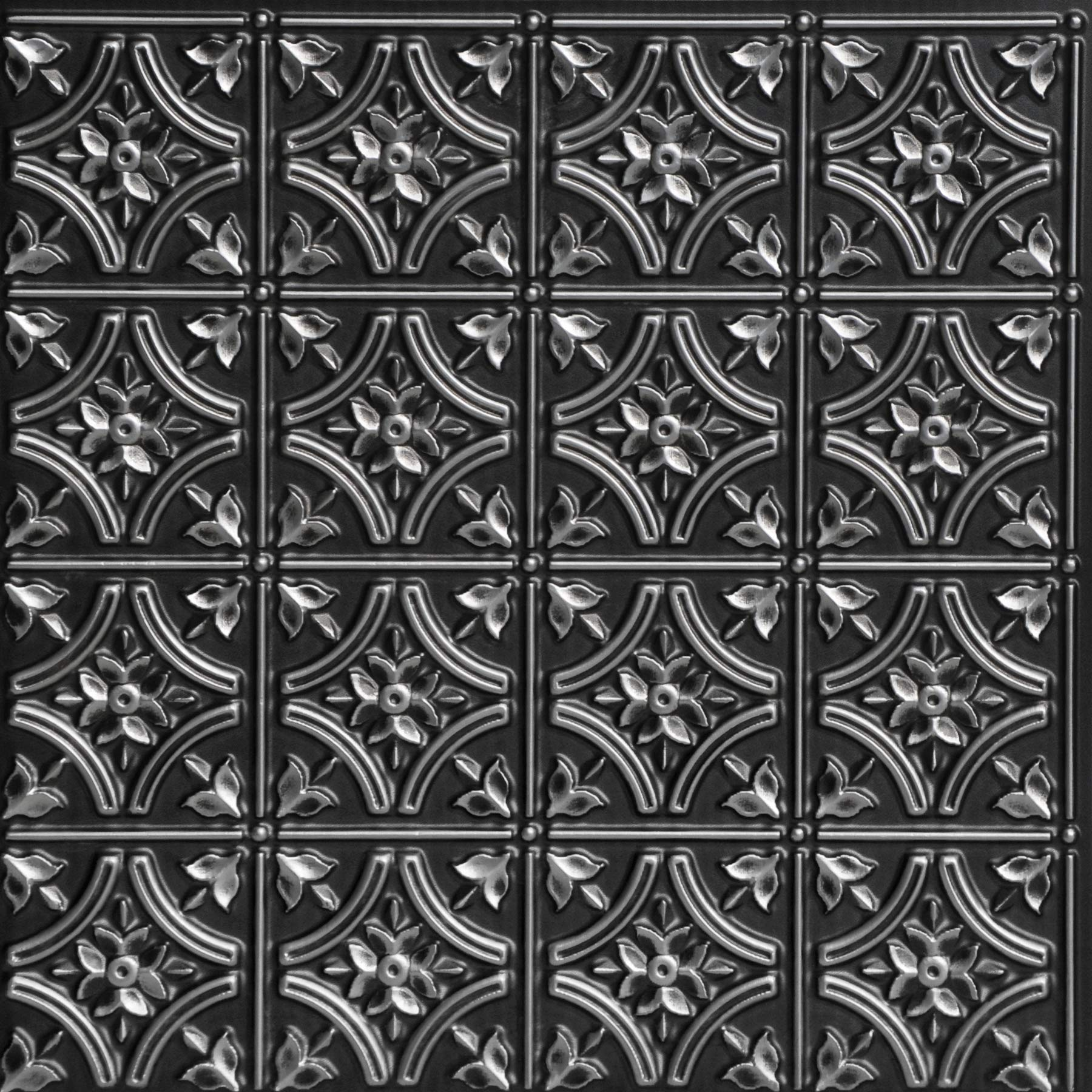 From Plain To Beautiful In Hours 150as-24x24-25 Gothic Reams Ceiling Tile Antique Silver 25