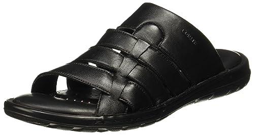 537dcfda8e98 BATA Men s Twister Mule Black Leather Flip Flops Thong Sandals-7 UK India (