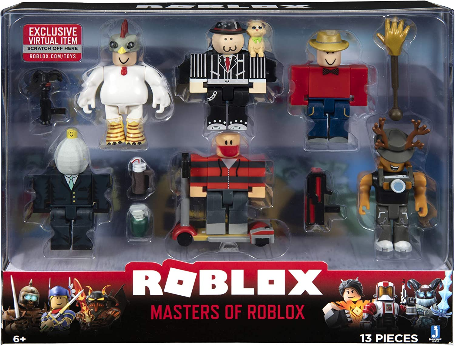 Amazon Com Roblox Action Collection Masters Of Roblox Six