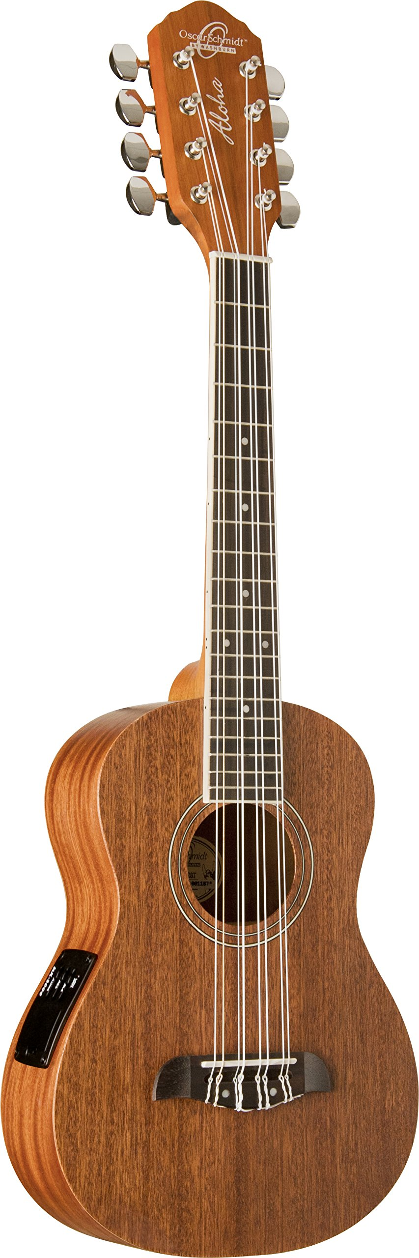 Oscar Schmidt OU28TE 8-String Tenor Ukulele, Satin Finish