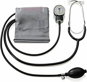 A&D Medical Professional Aneroid Sphygmomanometer with Stethoscope and Adult Cuff (UA-101)
