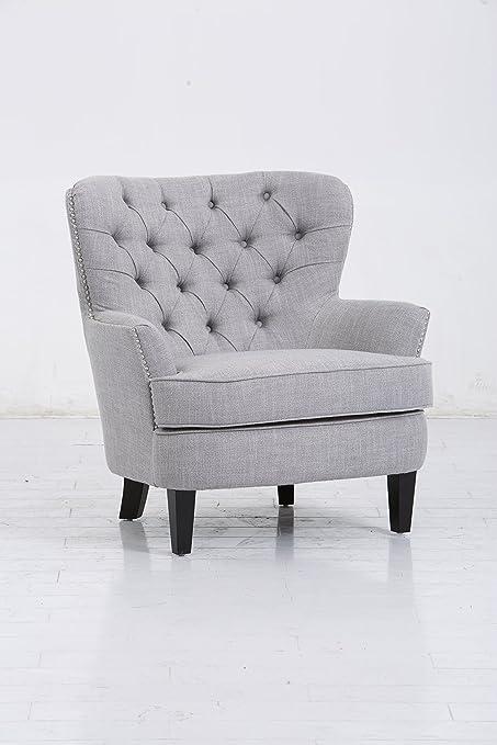 JGW Furniture 9020 20 17AY01 21 Curved Back Chair, Grey