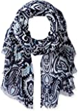 Jules Smith Women's Persian Paisley Printed Scarf with Raw Hem
