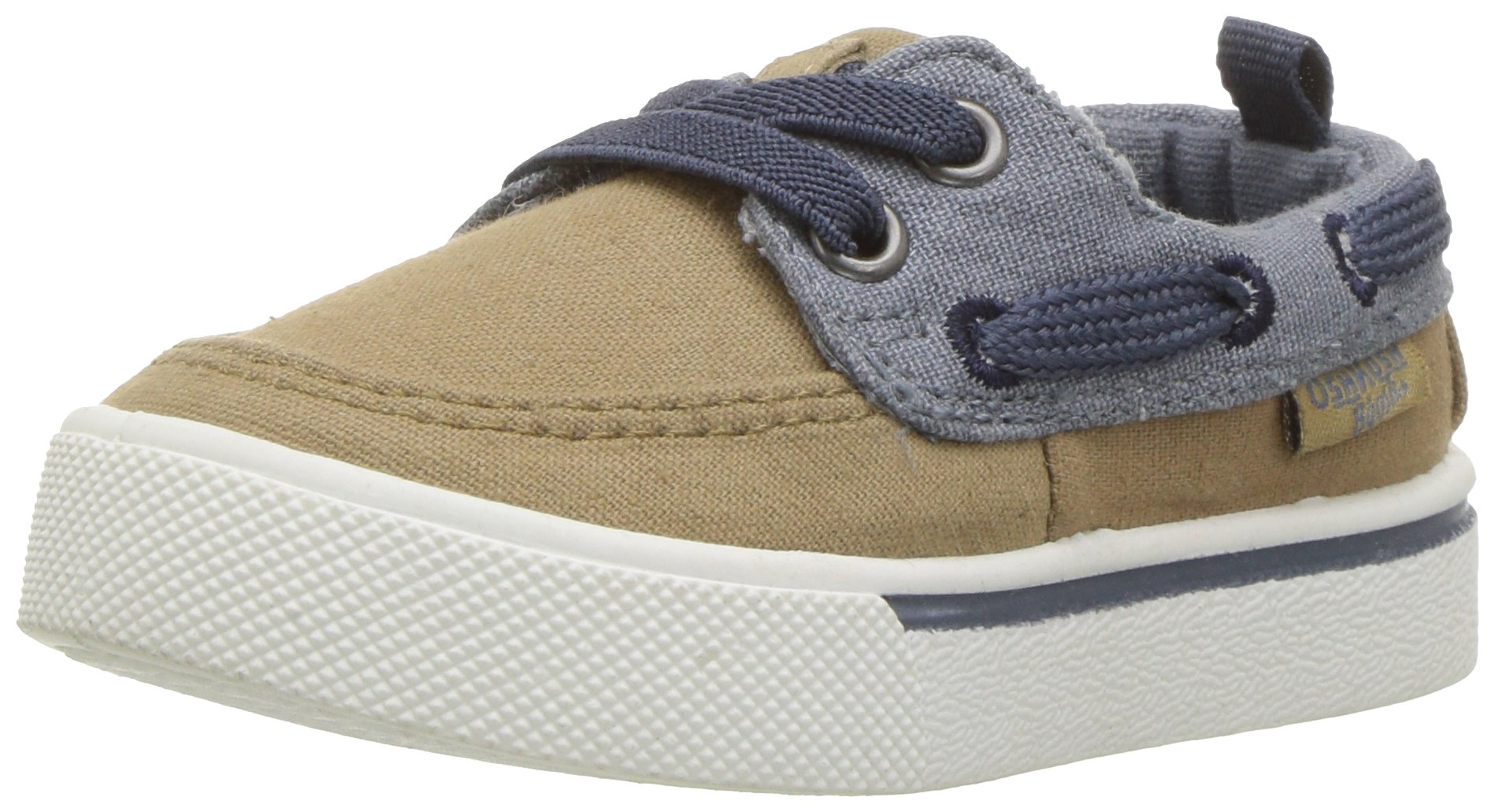 OshKosh B'Gosh Albie Boy's Boat Shoe, Khaki, 12 M US Little Kid by OshKosh B'Gosh (Image #1)