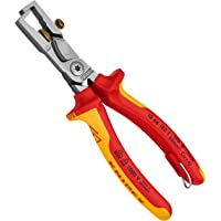 Knipex 13 66 180 SB Strix Insulation Stripper with Cable Shears Chrome Plated Insulated with Multi-Component Grips, VDE…