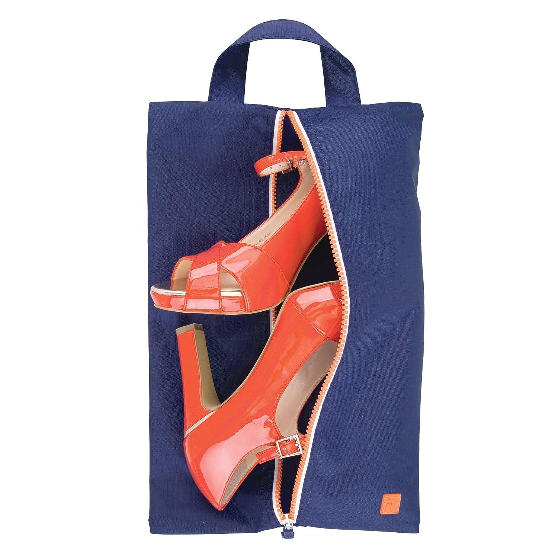 98f94a27da mDesign sac de rangement chaussures (lot de 4) - sac de voyage en polyester  pour chaussures - sac de sport pour cosmétiques ou pour la plage - bleu ...