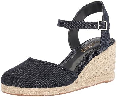 423880275 Lauren Ralph Lauren Women's Hayleigh II Espadrille Wedge Sandal, Dark Blue,  ...