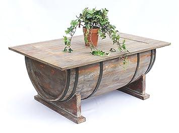 DanDiBo Tonneau de vin Table de Salon Table en Bois 5084 Etagère à vin 80  cm Table d\'appoint Vin Bar