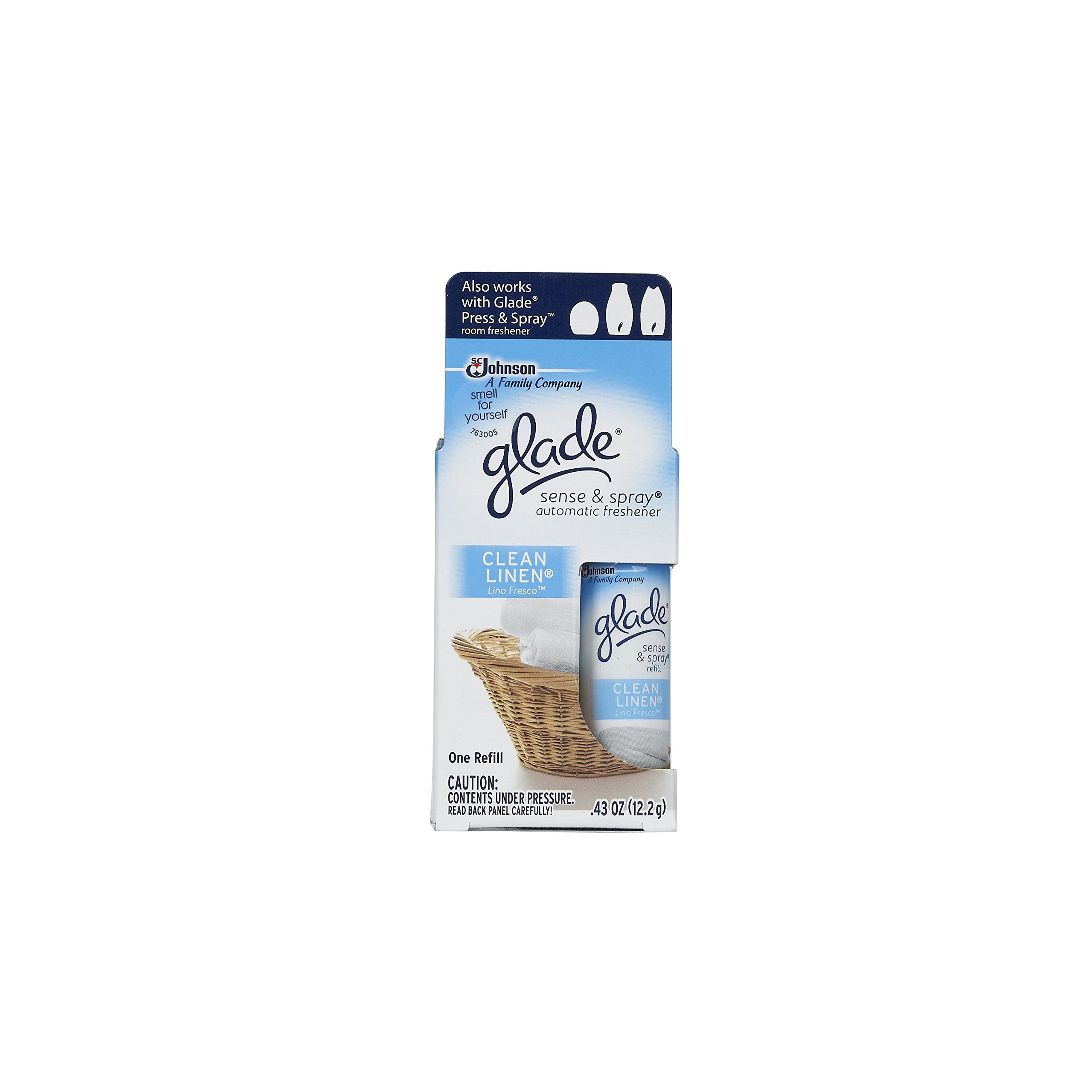 Glade Sense & Spray Automatic Freshener Refill, Clean Linen (Pack of 10) by Glade