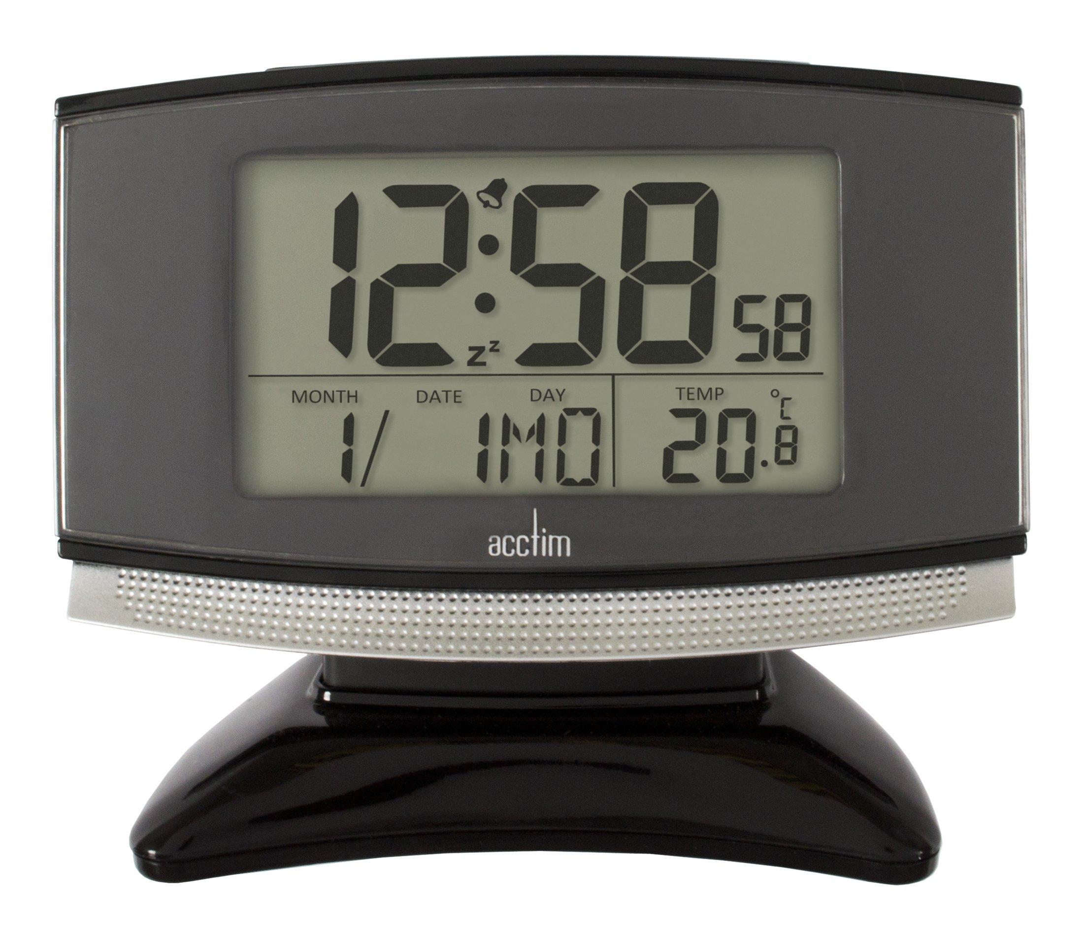 acctim 71207 acura smartlite radio controlled alarm clock black ebay. Black Bedroom Furniture Sets. Home Design Ideas