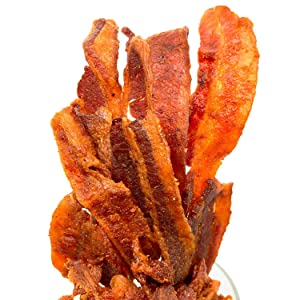 Five Star Jerky Spicy Sriracha Style Bacon Jerky   Ready to Eat Protein Snack   2oz 3 Pack
