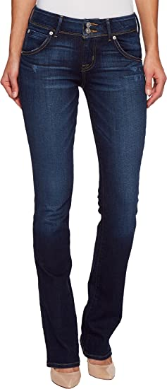 1b832029bd9 Image Unavailable. Image not available for. Colour: Hudson Jeans Women's  Collin Midrise Skinny Flap Pocket Jean, Corrupt, 24
