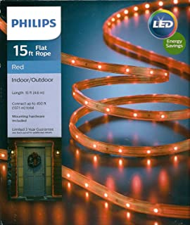 Amazon 15ft orange led flat rope by phillps garden outdoor philips 15 red led rope light indooroutdoor aloadofball Image collections