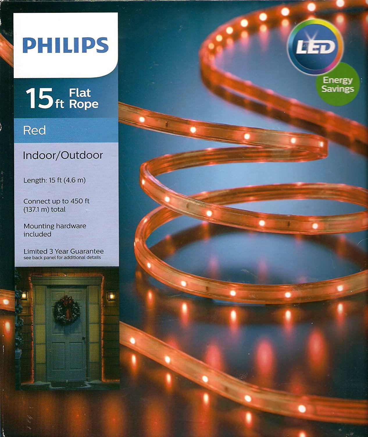 Amazon philips 15 red led rope light indooroutdoor home amazon philips 15 red led rope light indooroutdoor home improvement aloadofball Gallery