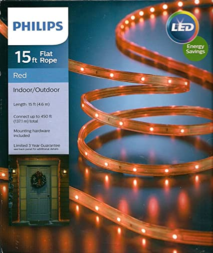 Amazon philips 15 red led rope light indooroutdoor home philips 15 red led rope light indooroutdoor aloadofball Gallery
